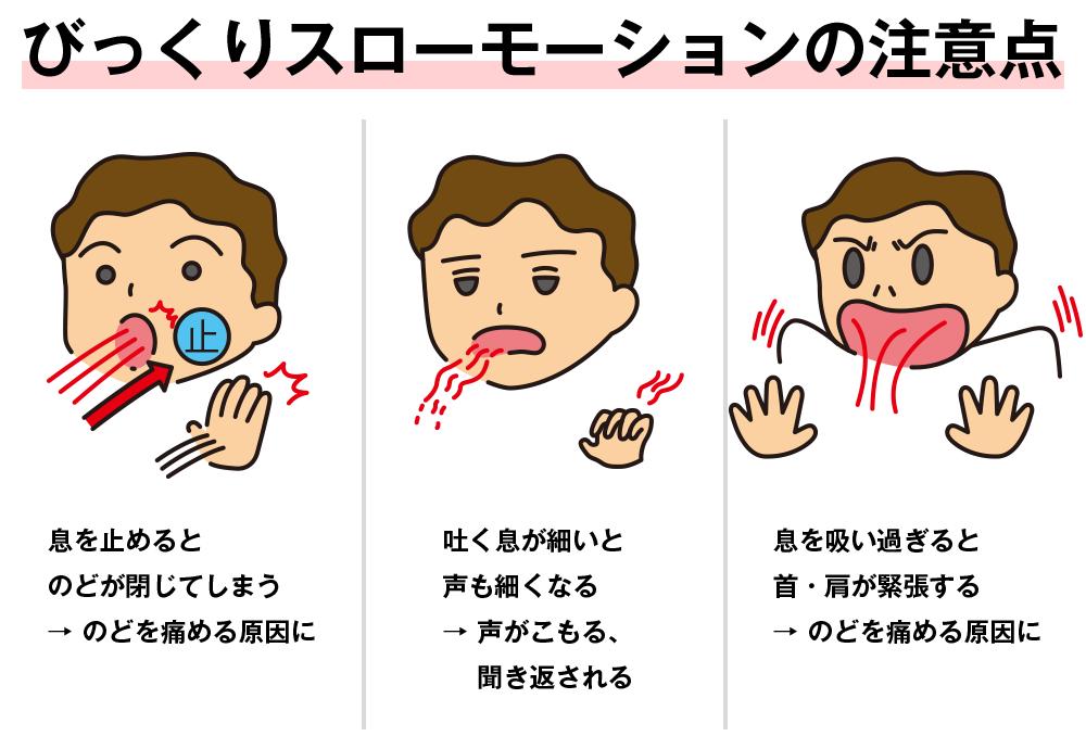 喉の奥を開くボイストレーニング方法 注意点